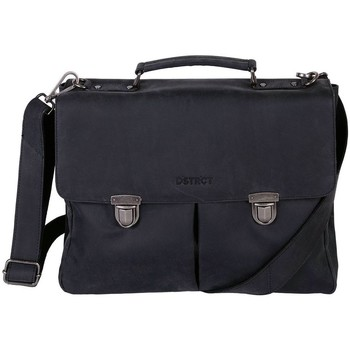 Tassen Heren Computertassen Dstrct Wall Street Business Bag Classic 11-15 inch Zwart