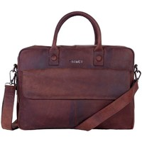 Tassen Computertassen Dstrct Wall Street Business Laptop Bag 15-17 inch Bruin