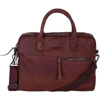 Tassen Computertassen Dstrct Wall Street Business Bag Double Zipper 11-15 inch Bruin