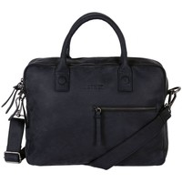 Tassen Computertassen Dstrct Wall Street Business Bag Double Zipper 11-15 inch Zwart