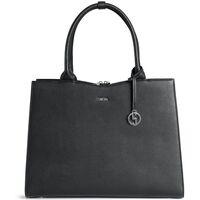 Tassen Dames Handtassen lang hengsel Socha Laptoptas Straight Line 15.6 inch Zwart
