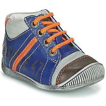 Schoenen Jongens Laarzen GBB ISIS Blauw / Oranje
