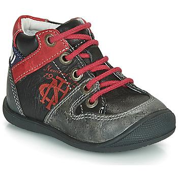 Schoenen Jongens Laarzen Catimini COMATULE Zwart / Rood