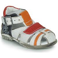 Schoenen Jongens Sandalen / Open schoenen GBB MELVIL Wit / Rood / Oranje