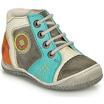 Schoenen Jongens Laarzen GBB MONTGOMERY Grijs / Blauw
