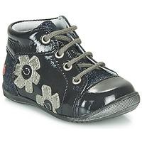 Schoenen Meisjes Hoge sneakers GBB NEIGE Marine / Zilver