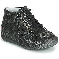 Schoenen Meisjes Laarzen GBB NAOMI Zwart / Zilver
