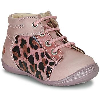 Schoenen Meisjes Laarzen GBB NELLY Roze / Zwart