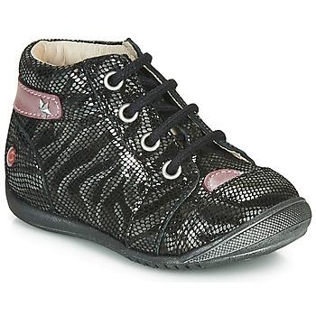Schoenen Meisjes Laarzen GBB NICOLE Zwart / Zilver