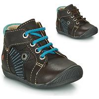 Schoenen Jongens Laarzen GBB NATALE Bruin / Blauw