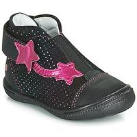 Schoenen Meisjes Laarzen GBB NOLWENN Zwart / Roze