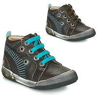Schoenen Jongens Hoge sneakers GBB NOAH Bruin / Blauw