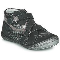 Schoenen Meisjes Laarzen GBB NINA Zwart / Zilver