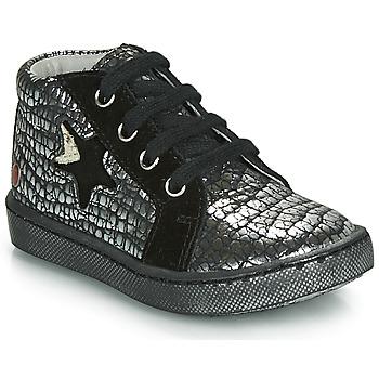 Schoenen Meisjes Hoge sneakers GBB LETO Zwart / Zilver