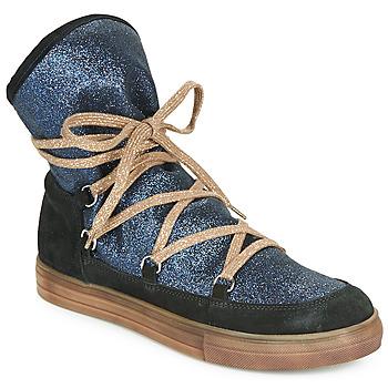 Schoenen Meisjes Hoge laarzen Achile ANGELA Blauw / Zwart