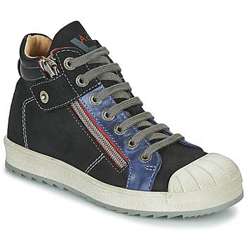 Schoenen Jongens Hoge sneakers Achile DIEGO Zwart / Blauw