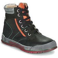Schoenen Jongens Laarzen Achile MANUEL Zwart / Oranje