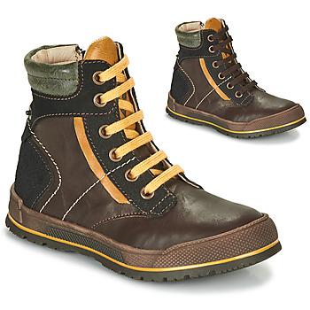 Schoenen Jongens Laarzen Achile MANUEL Bruin / Geel