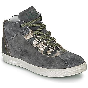 Schoenen Jongens Laarzen Ikks ISAAC Grijs / Kaki