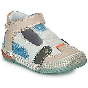 Schoenen Jongens Sandalen / Open schoenen GBB PERCEVAL Wit / Beige / Blauw