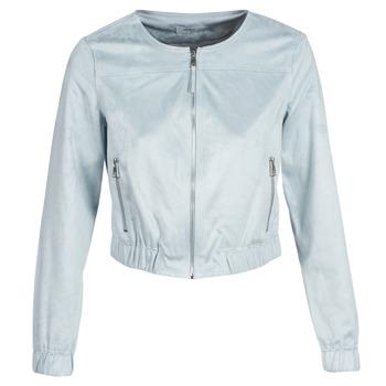 Textiel Dames Leren jas / kunstleren jas Only ONLLEONA Blauw
