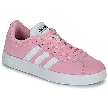 Schoenen Kinderen Lage sneakers adidas Originals VL COURT K ROSE Roze