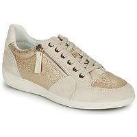 Schoenen Dames Lage sneakers Geox MYRIA Goud / Creme