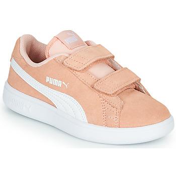 Schoenen Meisjes Lage sneakers Puma SMASH PSV PEACH Koraal