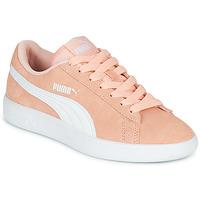 Schoenen Meisjes Lage sneakers Puma SMASH V2JR PEAC Koraal