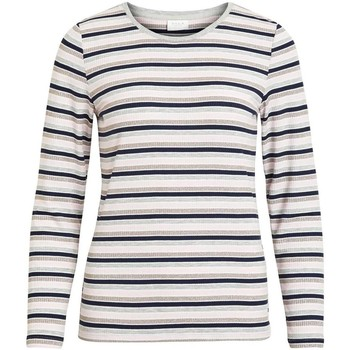 Textiel Dames T-shirts met lange mouwen Vila VIMULTICA Marino