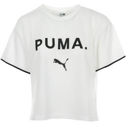 Textiel Dames T-shirts korte mouwen Puma Chase Mesh Tee Wit