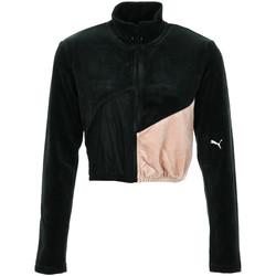 Textiel Dames Trainings jassen Puma Rive Gauche FZ Zwart