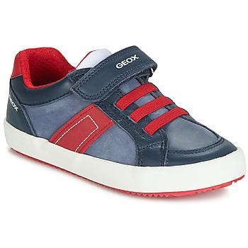 Schoenen Jongens Lage sneakers Geox ALONISSO Marine / Rood