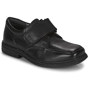Schoenen Meisjes Derby Geox FEDERICO A Zwart