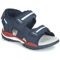 Schoenen Jongens Sandalen / Open schoenen Geox BOREALIS Blauw / Rood