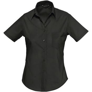 Textiel Dames Overhemden Sols ESCAPE POPELIN WOMEN Negro