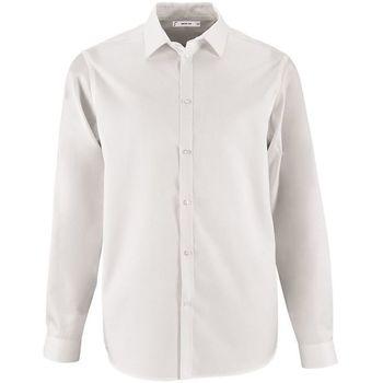 Textiel Heren Overhemden lange mouwen Sols BRODY WORKER MEN Blanco