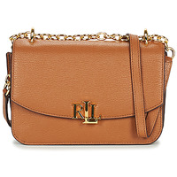 Tassen Dames Schoudertassen met riem Lauren Ralph Lauren ELMSWOOD MADISON CROSSBODY MEDIUM Cognac