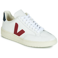 Schoenen Lage sneakers Veja V-12 LEATHER Wit / Blauw / Rood