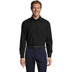 Textiel Heren Overhemden lange mouwen Sols BALTIMORE FASHION WORK Negro