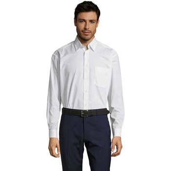 Textiel Heren Overhemden lange mouwen Sols BALTIMORE FASHION WORK Blanco