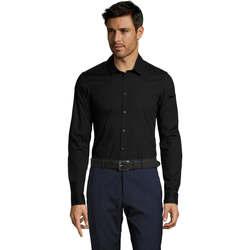 Textiel Heren Overhemden lange mouwen Sols BLAKE MODERN MEN Negro