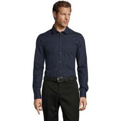 Textiel Heren Overhemden lange mouwen Sols BLAKE MODERN MEN Azul