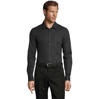 Textiel Heren Overhemden lange mouwen Sols BLAKE MODERN MEN Gris
