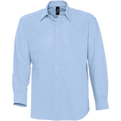 Textiel Heren Overhemden lange mouwen Sols BOSTON STYLE OXFORD Azul