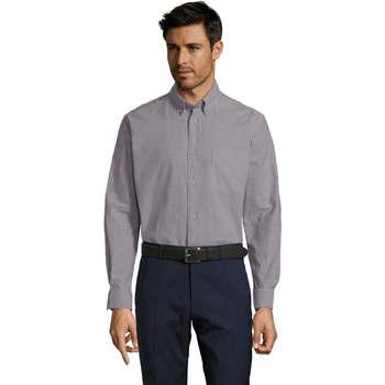 Textiel Heren Overhemden lange mouwen Sols BOSTON STYLE OXFORD Plata