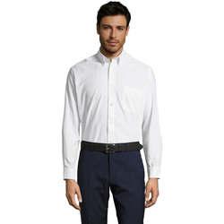 Textiel Heren Overhemden lange mouwen Sols BOSTON STYLE OXFORD Blanco
