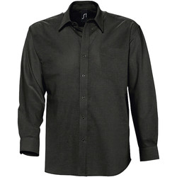 Textiel Heren Overhemden lange mouwen Sols BOSTON STYLE OXFORD Negro