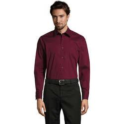 Textiel Heren Overhemden lange mouwen Sols BRIGHTON STRECH Violeta