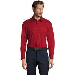 Textiel Heren Overhemden lange mouwen Sols BRIGHTON STRECH Rojo
